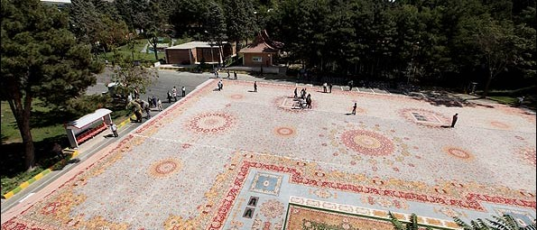 3rd Biggest Persian Rug arial view