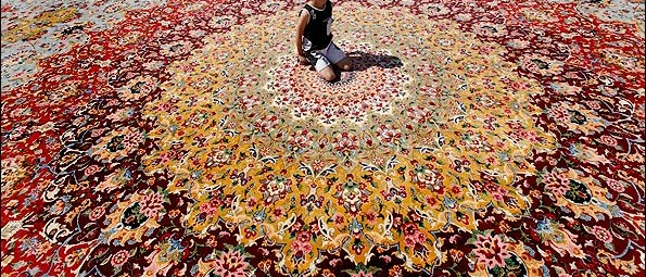 Spectacular colour - worlds 3rd biggest Persian rug