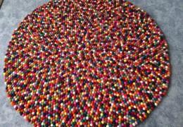 Felt Wool Ball Rug