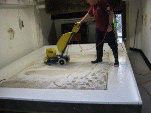 Devine scrubbing in water bath
