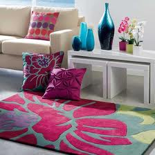 revitalise bright flower rug