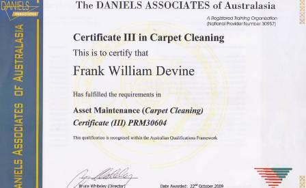 Frank Devine Daniels Cert