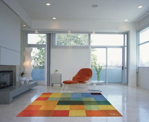 bright coloured Devine rug
