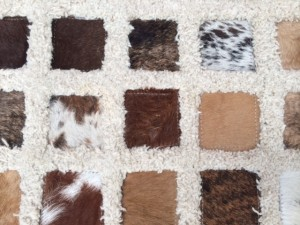 cow hide wool rug by Devine Rug Care